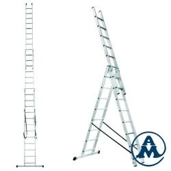 Ljestve Aluminijske Trodijelne Višenamjenske gazište 3x11 Alpos 38-11