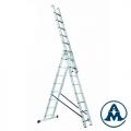 Ljestve Aluminijske Trodijelne Višenamjenske gazište 3x7 Alpos 38-07