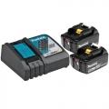 Makita Set Baterija i Punjač Li-ion 2x18V 5,0Ah BL1850 + DC18RC