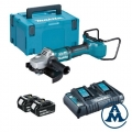 Makita Aku Kutna Brusilica DGA900PT2 Li-ion 18+18V 5,0Ah 230mm + Kofer
