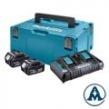 Set Baterija i Punjač Makita Li-ion 2x18 V 4,0Ah BL1840B + DC18RD + Makpac