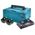 Set Baterija i Punjač Makita Li-ion 2x18 V 5,0Ah BL1850B + DC18RD + Makpac