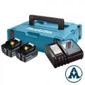 Set Baterija i Punjač | LXT Makita Li-ion 2x18V 6,0Ah BL1860B Indikator + DC18RC | 198116-4