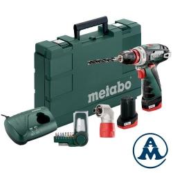 Metabo Aku Odvijač Powermaxx Quick Basic Li-ion 2x10,8V 2,0Ah + Quick Kutni Nastavak