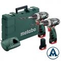 Metabo 2x Aku Bušilice - Odvijači PowerMaxx BS Li-ion 3x10,8V 2,0Ah