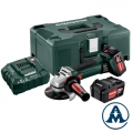 Metabo Aku Kutna Brusilica W 18-LTX 125 Li-ion 2x18V 4,0Ah 125mm + Kofer