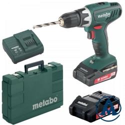 Metabo Aku Bušilica - Odvijač BS 18 Li Li-ion 2x18V 48Nm 13mm 1,5kg