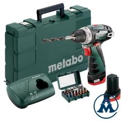 Metabo Aku Odvijač Powermaxx 12 Basic 2x10,8V 2,0Ah + Set bitova 15/1