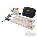 Pila kružna uranjajuća TTS1400 Triton 1400W SET 2x Vodilica + Stege
