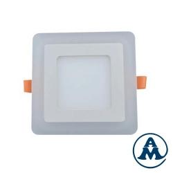 Lampa LED Stropna Nadžbukna Kvadratna 18W RGB 6000K