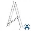 Ljestve Aluminijske Dvodijelne gazište 2x16 Alpos 40-16
