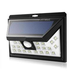 Svjetiljka LED Solarna Zidna sa Senzorom Pokreta