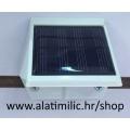 Svjetiljka solarna zidna plastična