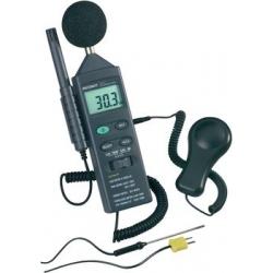 Luxmetar, mjerač buke, termometar i higrometar u jednom, eko mjerni uređaj VOLTCRAFT